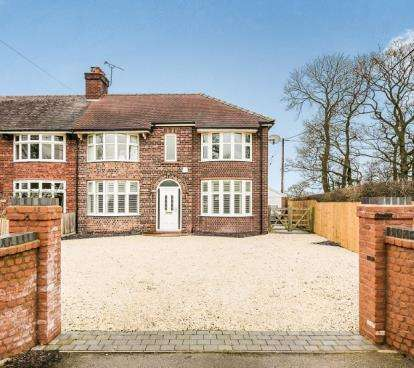 4 Bedrooms Semi Detached House for sale in School Lane, Warmingham, Sandbach, Cheshire