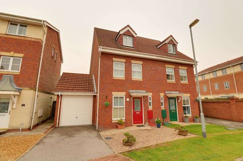 4 Bedrooms Semi Detached House for sale in Kingfisher Close, Scawby Brook