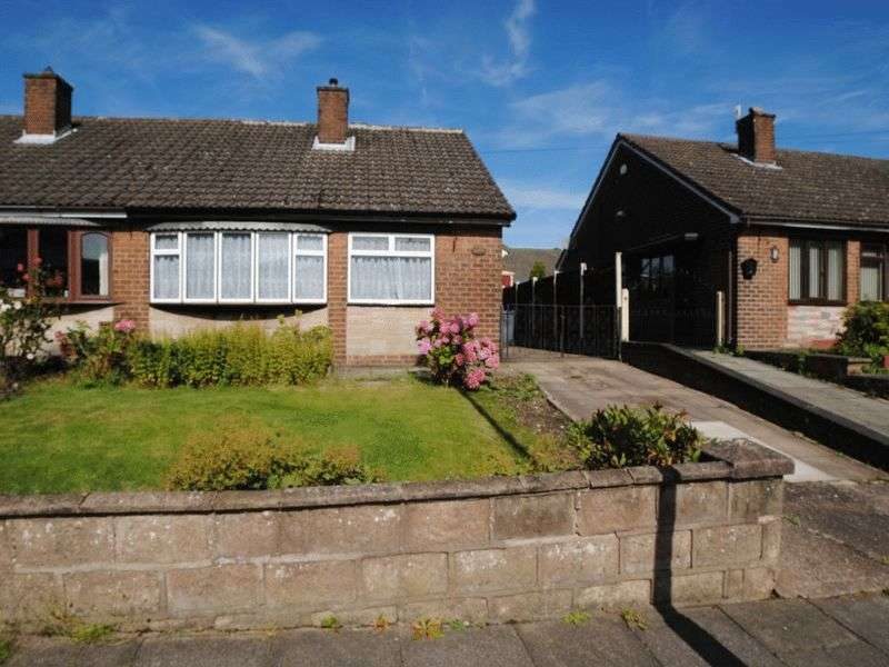 2 Bedrooms Semi Detached Bungalow for sale in Foley Road, Longton, Stoke-On-Trent, ST3 2LH