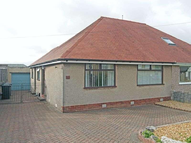 2 Bedrooms Semi Detached Bungalow for sale in Pinewood Avenue, bolton Le Sands, Lancaster