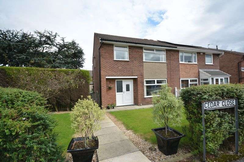 3 Bedrooms Semi Detached House for sale in Cedar Close, Rishton