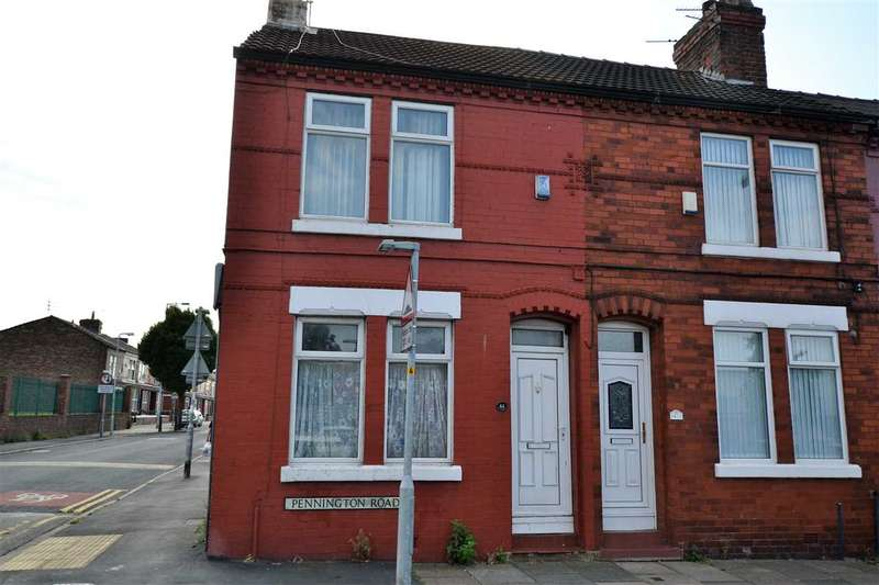 2 Bedrooms End Of Terrace House for sale in pennington rd, litherland