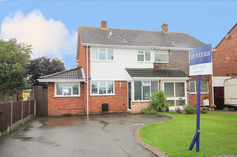 3 Bedrooms Semi Detached House for sale in Little Warton Road, Warton, B79 0JB