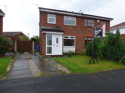 3 Bedrooms Semi Detached House for sale in Lockerbie Close, Warrington, Cheshire, WA2