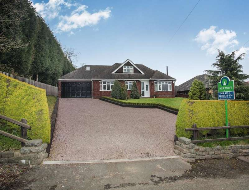 4 Bedrooms Detached Bungalow for sale in Mill Lane, Heather, Coalville, LE67
