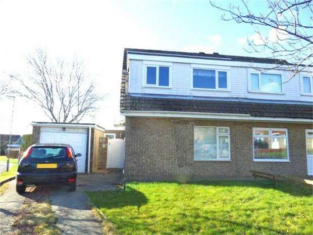 3 Bedrooms Semi Detached House for sale in Hever Close, Etherley Dene, Bishop Auckland, Durham