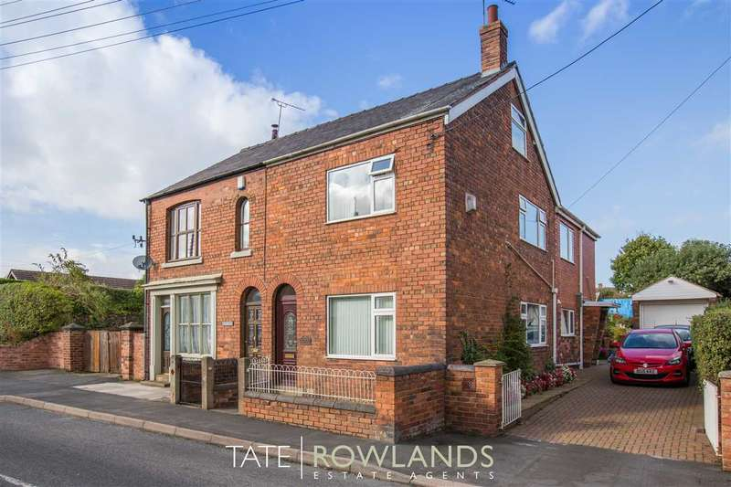 3 Bedrooms Semi Detached House for sale in Dolwen Cottage, Village Road, Northop Hall