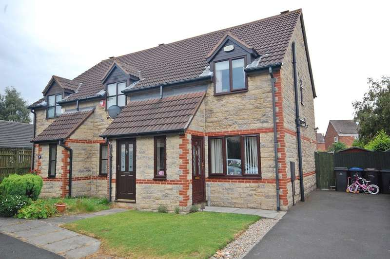 2 Bedrooms Semi Detached House for sale in St Godrics Drive, West Rainton, Durham