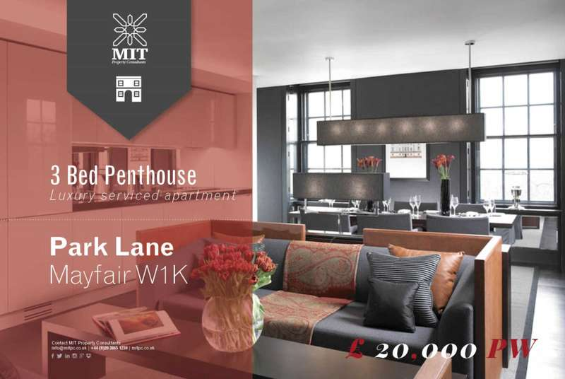 3 Bedrooms Penthouse Flat for rent in Park Lane, Mayfair