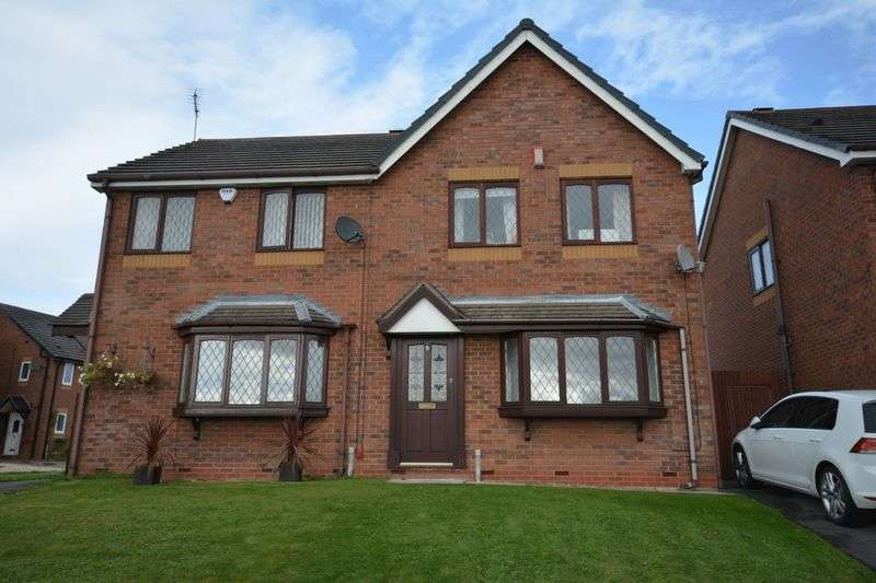 3 Bedrooms Semi Detached House for sale in Greendale Gardens, Crewe
