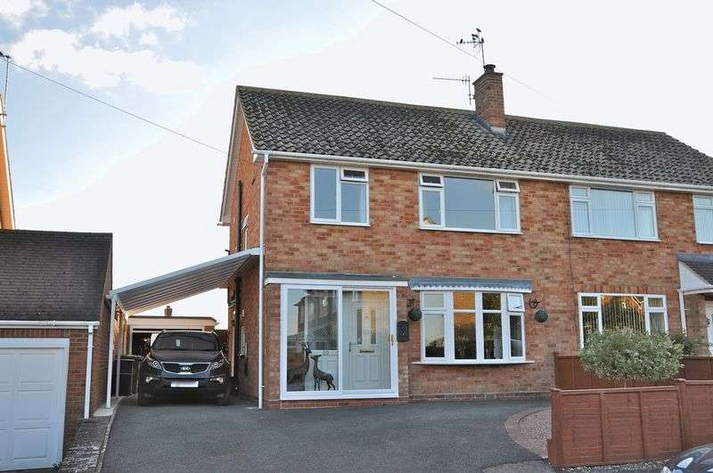 3 Bedrooms Semi Detached House for sale in Brookedale, Harvington, Evesham, WR11 8ND