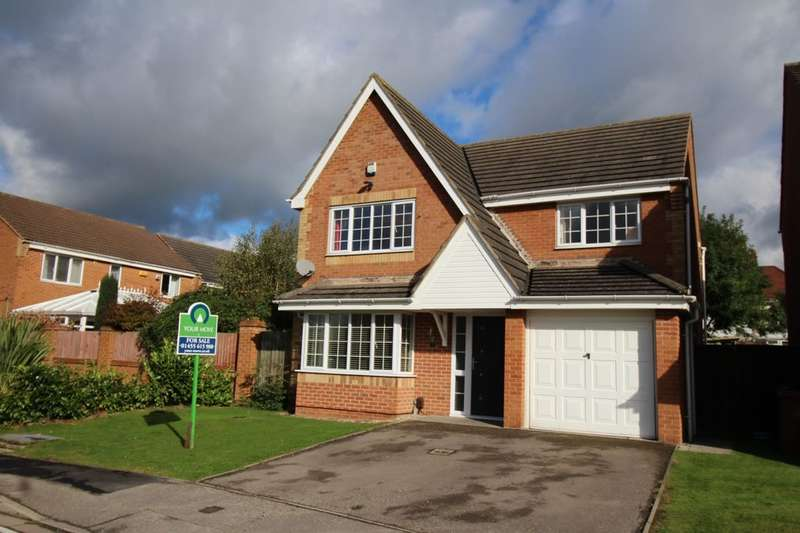 4 Bedrooms Detached House for sale in Mallard Drive, Hinckley, LE10