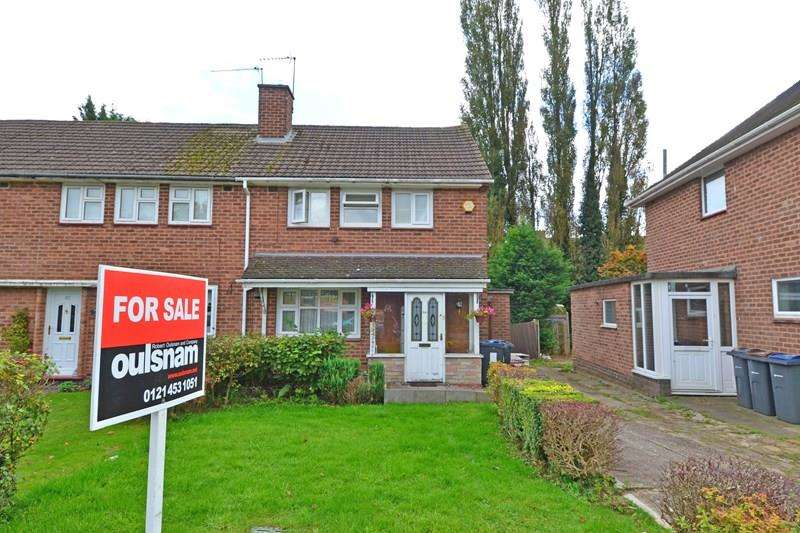 2 Bedrooms End Of Terrace House for sale in Irwin Avenue, Rednal, Birmingham