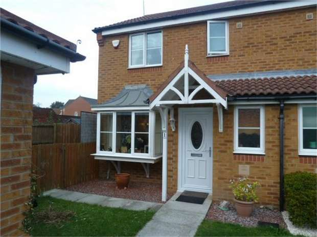 3 Bedrooms Semi Detached House for sale in Redwood Court, Ashington, Northumberland