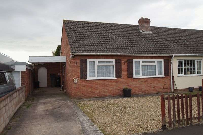 2 Bedrooms Semi Detached Bungalow for sale in Quantock Rise, Pawlett