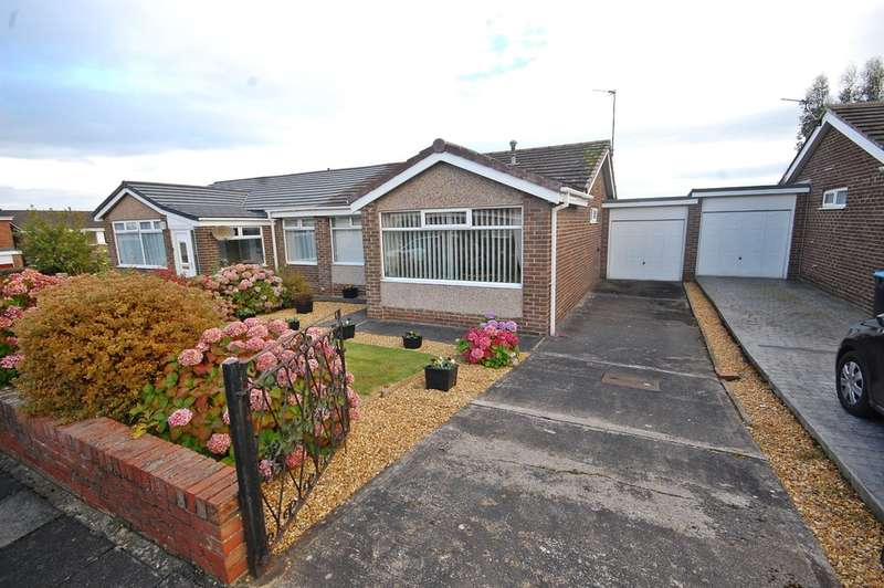 2 Bedrooms Semi Detached Bungalow for sale in Barnard Close, Newton Hall, Durham