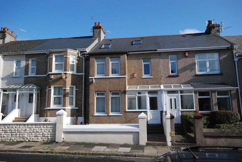 4 Bedrooms Terraced House for sale in Ridge Park Avenue, Mutley, Plymouth. A really well presented 4 bedroomed family home with GARAGE and garden.