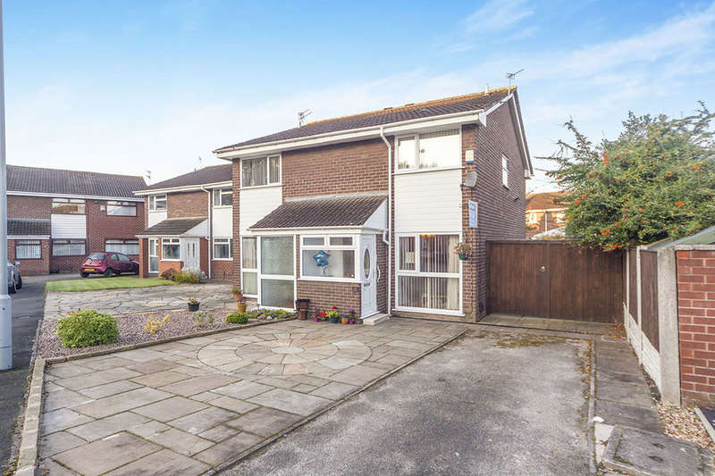 2 Bedrooms Semi Detached House for sale in Roscoe Close, Tarbock Green, Prescot, L35