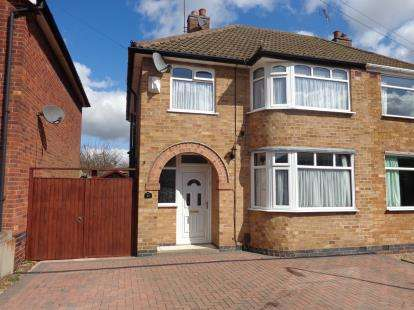 3 Bedrooms Semi Detached House for sale in Ryegate Crescent, Birstall, Leicester, Leicestershire