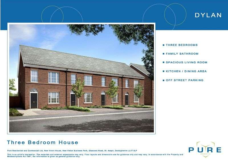3 Bedrooms Terraced House for sale in Plot 14, Livingstone Place, St. Asaph