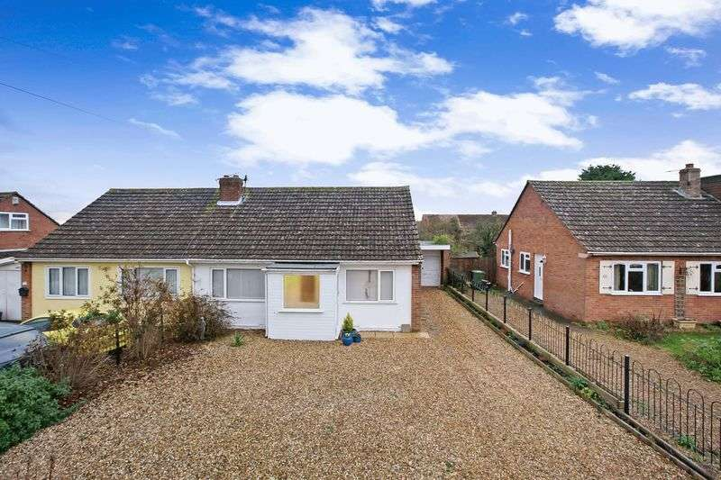 2 Bedrooms Semi Detached Bungalow for sale in Quantock Rise, Pawlett, Nr. Bridgwater