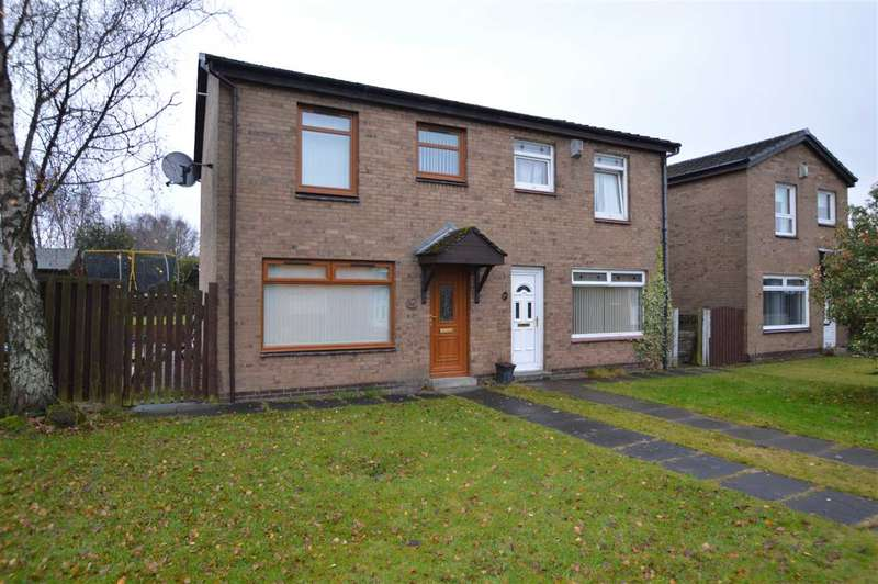 3 Bedrooms Semi Detached House for sale in Heather Avenue, Holytown, Motherwell - 3 bed semi with detached garage