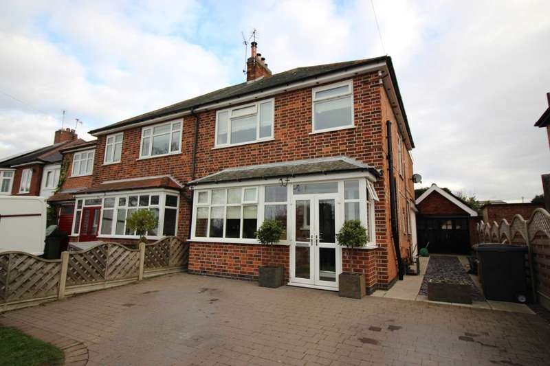 3 Bedrooms Semi Detached House for sale in Station Road, Thurnby