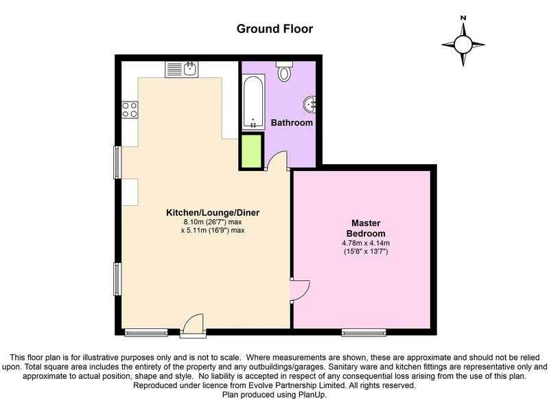 1 Bedroom Flat for sale in Wainhouse Corner, Bude EX23
