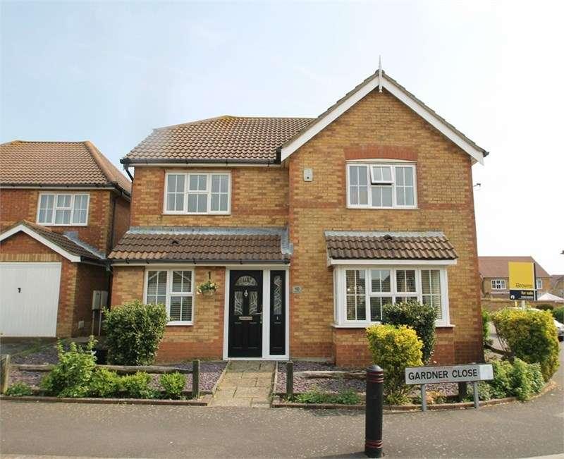 4 Bedrooms Detached House for sale in Gardner Close, Hawkinge, FOLKESTONE