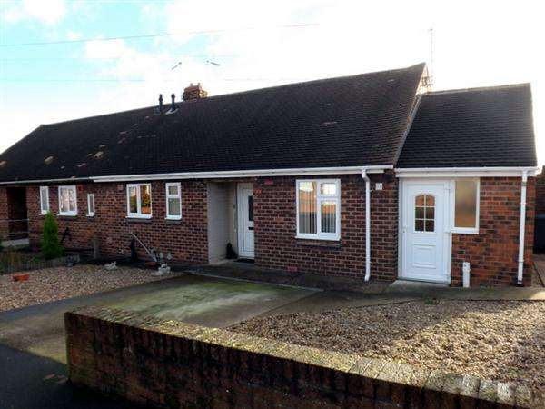 2 Bedrooms Semi Detached Bungalow for sale in Shakespeare Avenue, Creswell, Worksop
