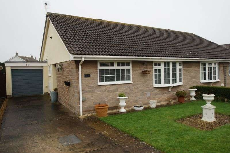 2 Bedrooms Semi Detached Bungalow for sale in Monkstone Drive, Berrow