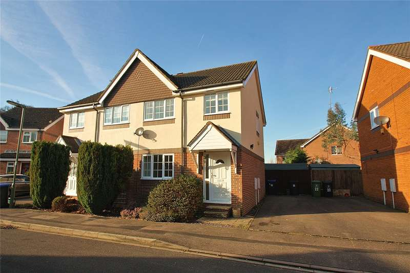 3 Bedrooms Semi Detached House for sale in Bloomfield Close, Knaphill, Woking, Surrey, GU21