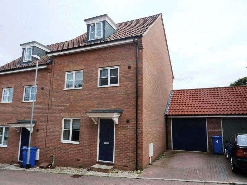 4 Bedrooms Semi Detached House for sale in Attoe Walk, Norwich