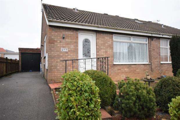 2 Bedrooms Semi Detached Bungalow for sale in Overdale, Eastfield, Scarborough, North Yorkshire YO11 3RE