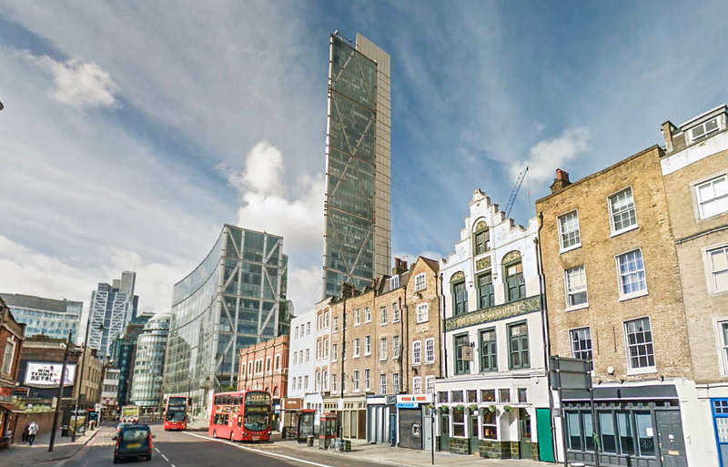 2 Bedrooms Flat for sale in Principal Tower, Shoreditch High Street, Shoreditch