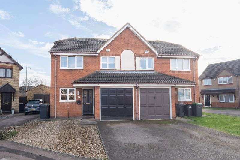 3 Bedrooms Semi Detached House for sale in Tipcat Close, Elstow, Bedford