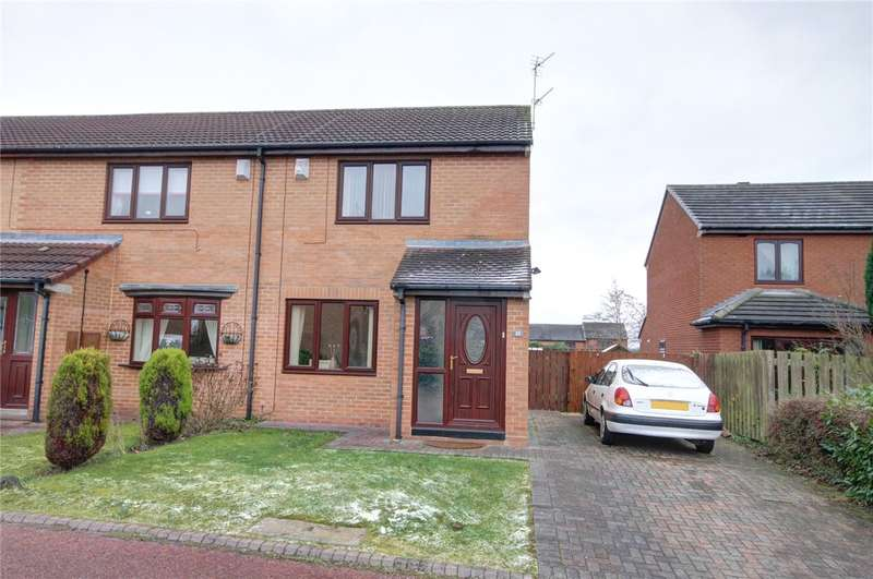 2 Bedrooms Semi Detached House for sale in Farnham Close, Newton Hall, Durham, DH1