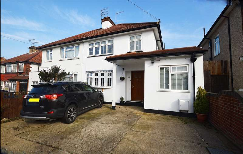 4 Bedrooms Semi Detached House for sale in Ellesmere Avenue, Mill Hill, London, NW7