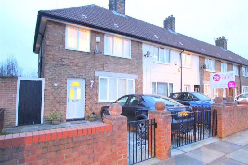 3 Bedrooms End Of Terrace House for sale in Melbury Road, Huyton, Liverpool