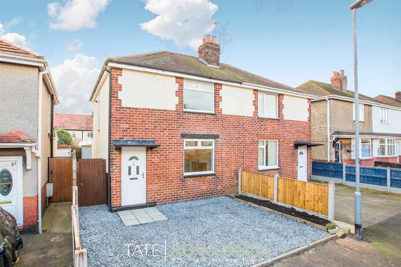 2 Bedrooms Semi Detached House for sale in Fourth Avenue, Flint