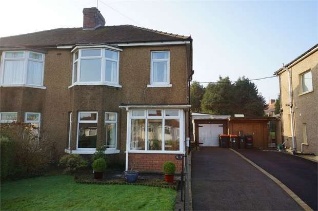 3 Bedrooms Semi Detached House for sale in Glasllwch Crescent, NEWPORT
