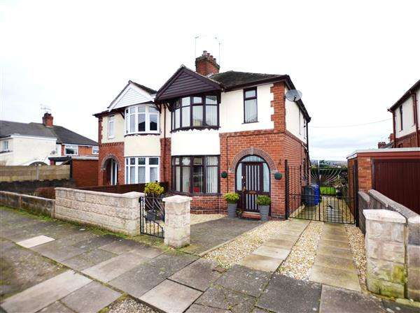 3 Bedrooms Semi Detached House for sale in Moss Side, Sneyd Green, Stoke-On-Trent