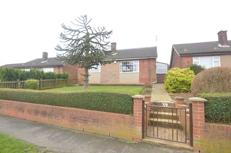 2 Bedrooms Detached Bungalow for sale in Field Drive, Shirebrook