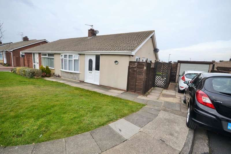 2 Bedrooms Semi Detached Bungalow for sale in Bolton Close, Redcar TS10