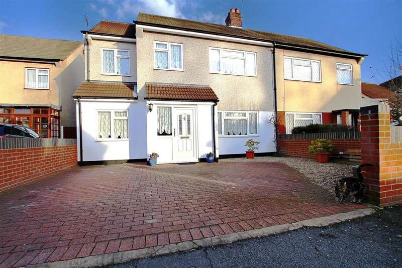 4 Bedrooms Semi Detached House for sale in Andrew Close, Crayford
