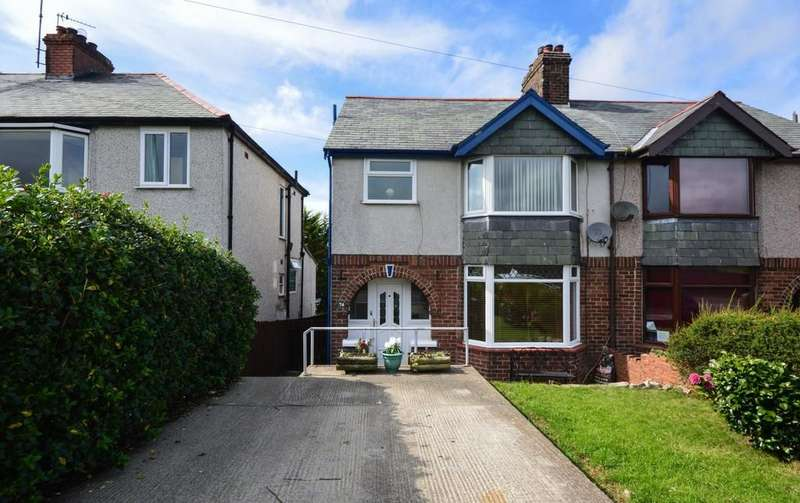 4 Bedrooms Semi Detached House for sale in Ffriddoedd Road, Bangor, North Wales