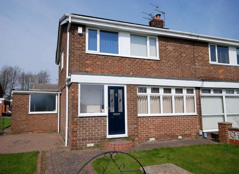 3 Bedrooms Semi Detached House for sale in Hereford Way, Fellgate, Jarrow