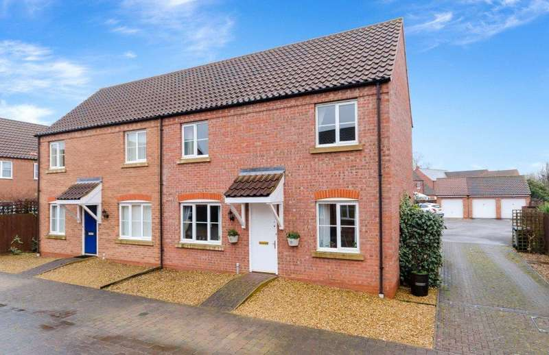 3 Bedrooms Semi Detached House for sale in The Yarde, Bourne, PE10