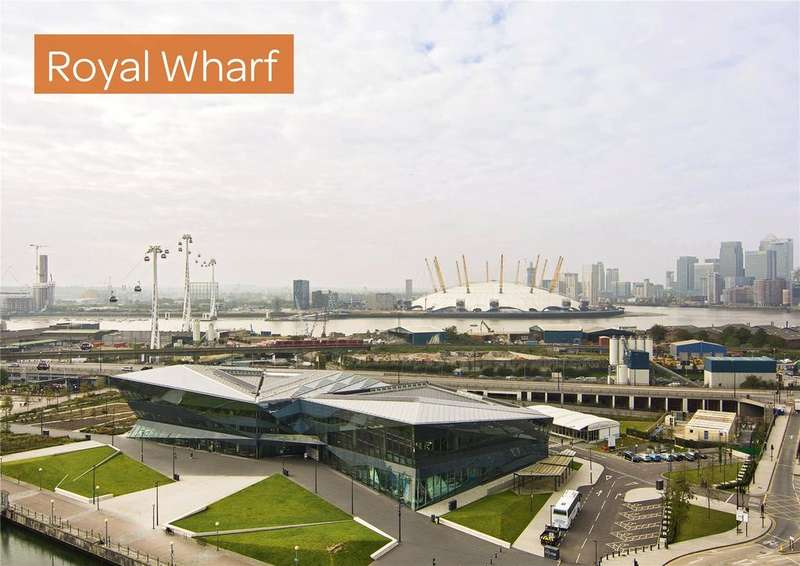 2 Bedrooms Flat for sale in Compass House, Royal Wharf, London, E16