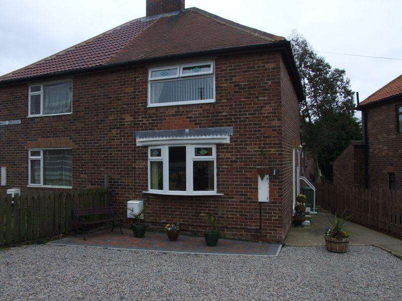 2 Bedrooms Semi Detached House for sale in West Crescent, Peterlee